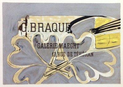 "Braque 4 ""Galerie Braque Maeght 52"" Mourlot 1959 Art in posters"