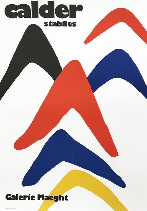 Alexander Calder, Poster Lithograph, Stabileshograph, Maeght