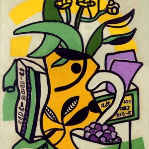 Leger, Un Vase Jaune, Numbered Giclee