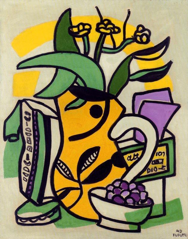 "Leger ""Un vase jaune"" L.E & numbered Giclee"