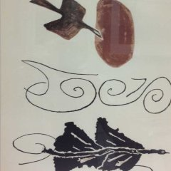 Braque Lithograph signed in plate printed 1956