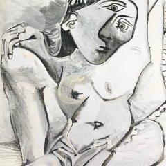 "Picasso Poster ""femme a l'oreiller"""