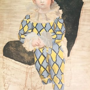"Picasso Poster ""Paul en Arlequin"""