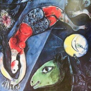 "Chagall Poster ""Le cirque bleu"""