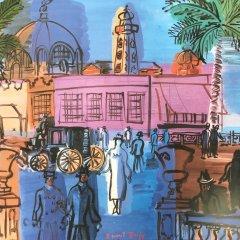 Raoul Dufy Poster Le casino de las jettee, Large poster