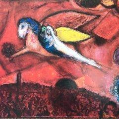"Chagall Poster ""Cantique des Cantiques"""