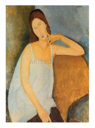 "Modigliani ""Portrait of J. Hebuterne in blue shirt"" L.E & numbered Giclee"