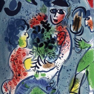 Chagall lithograph from volume 3 frontispiece
