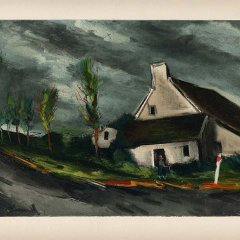 "Vlaminck 37 ""Near beaumont sur sarthe"" 1958"