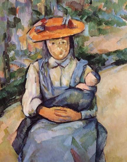 "Cezanne ""Little girl holding a doll"" L.E Giclee Artwork"