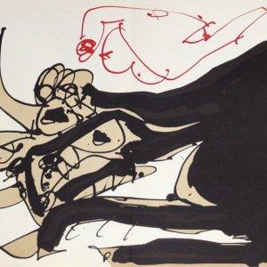 "Saura Original Lithograph ""N6-2d"" printed 1988"