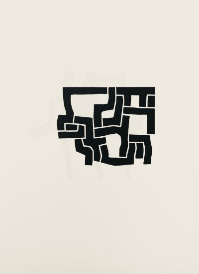 """Eduardo Chillida """"Lithograph DM02207"""" DLM printed 1974"""