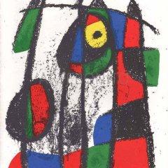 Miro Original Lithograph V2-7 Mourlot 1975