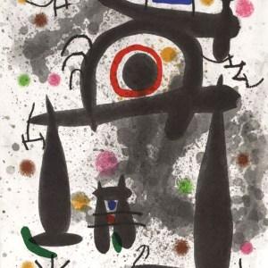 1971 Miro Lithograph DM02195, Derriere le Miroir