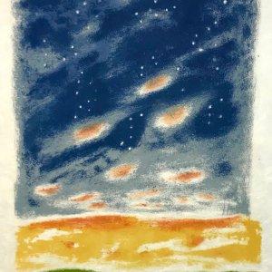 """Jules Cavailles """"1"""" Original Lithograph 1962, Mourlot"""