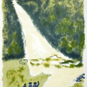 Jules Cavailles Original Lithograph, Untitled 8