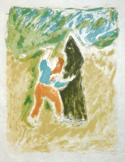 """Jules Cavailles """"10"""" Original Lithograph 1962, Mourlot"""