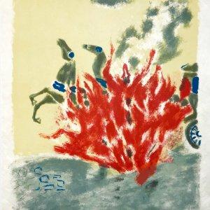 """Jules Cavailles """"15"""" Original Lithograph 1962, Mourlot"""