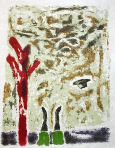 """Jules Cavailles """"16"""" Original Lithograph 1962, Mourlot"""