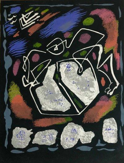 "Andre Masson ""4"" Original Lithograph 1962, Mourlot"