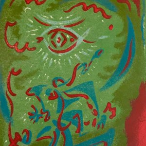 Andre Masson   8, Original Lithograph 1962, printed by Mourlot,    Abstract, Expressionism,