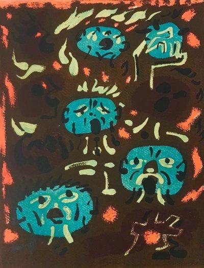 "Andre Masson ""12"" Original Lithograph 1962, Mourlot"