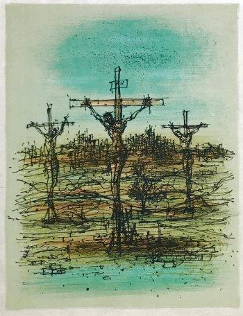 Jean Carzou Original Lithograph 4, Mourlot 1962