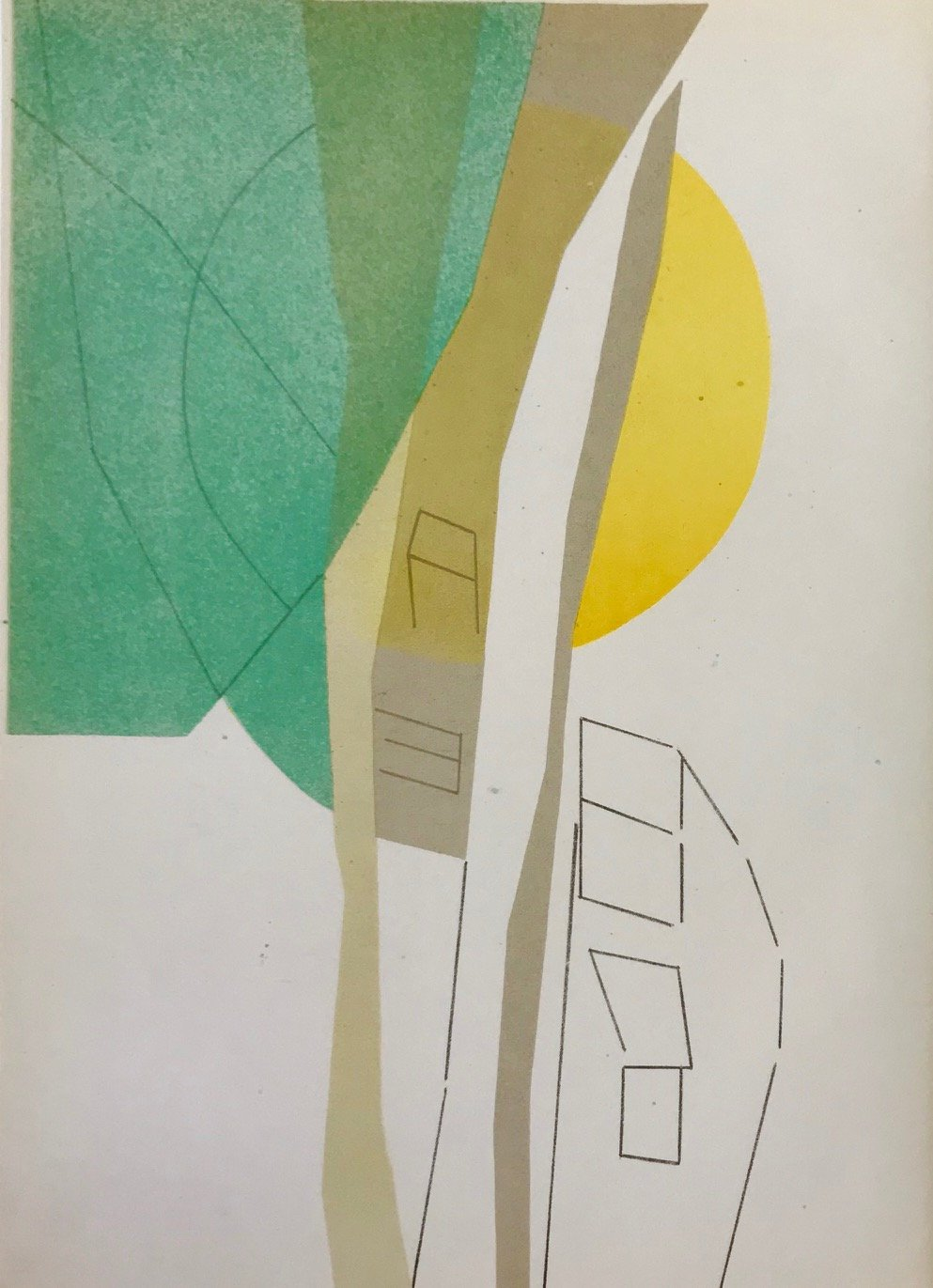 Andre Beaudin Original Lithograph 5, 1961