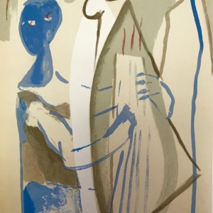 "Francisco Bores ""1"" Original Lithograph 1961 Mourlot"