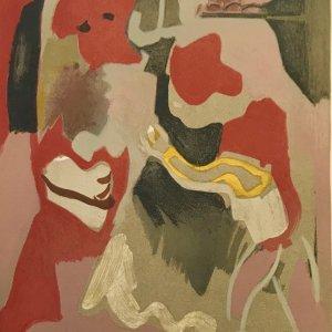 "Francisco Bores ""5"" Original Lithograph 1961 Mourlot"