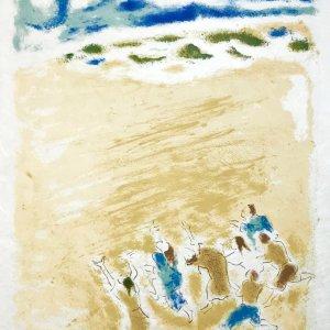 """Jules Cavailles """"11"""" Original Lithograph 1962, Mourlot"""