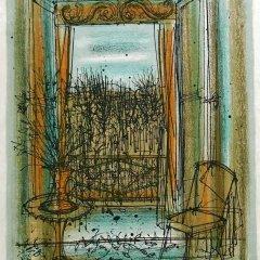 """Jean Carzou """"3"""" Original Lithograph 1962 Mourlot"""