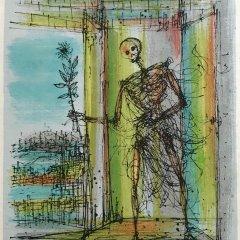 """Jean Carzou """"7"""" Original Lithograph 1962 Mourlot"""