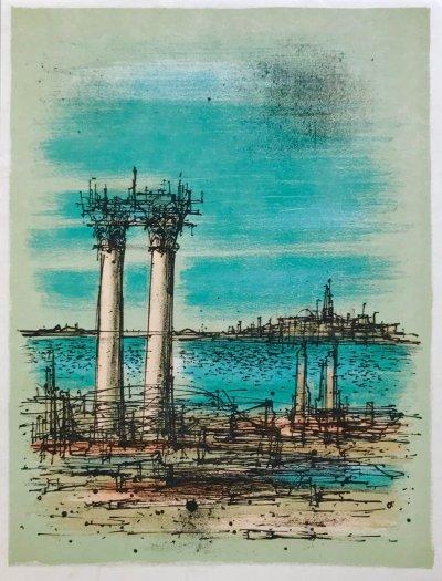 """Jean Carzou """"13"""" Original Lithograph 1962 Mourlot"""