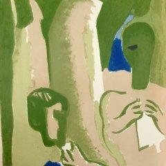 "Francisco Bores ""4"" Original Lithograph 1961 Mourlot"