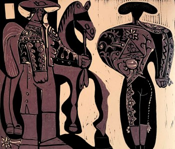 Picasso Linocut Pecador y Torero, XX siecle 1978