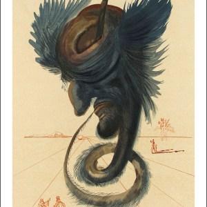 Salvador Dali woodcut, Diviners & sorcerers - Hell 20