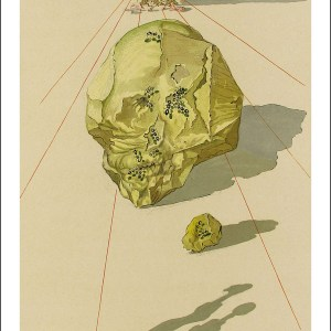 Salvador Dali Woodcut, Punishment of hypocrites-Hell 23