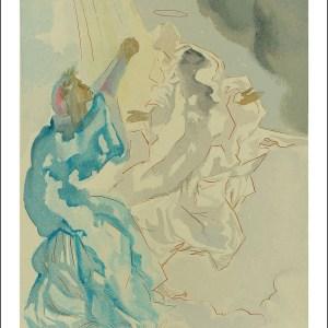 Salvador Dali Woodcut, View of Beatrice – Paradise 5