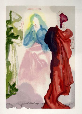 Dali Woodcut, St Bernard's prayer - Paradise 33