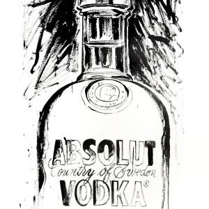 1999 Andy Warhol Print, Absolut VodKa 5 Pop Art