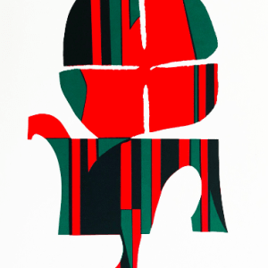 Ronald king Screen print in four colors 13 Squier 1978