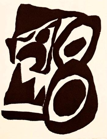 Jean Arp, Woodcut A17, Edition Thomas Press 1982