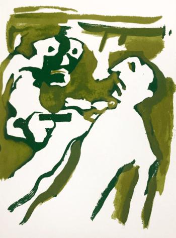 Francisco Bores Original Lithograph 1962, Untitled 18