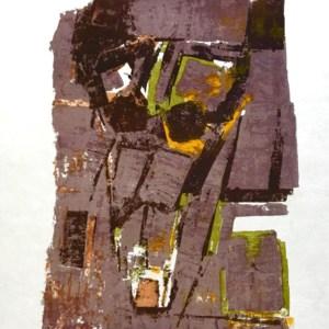 Orlando pelayo original lithograph, untitled 11