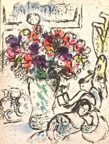 Chagall Original Lithograph vol 4, Frontispiece 1974
