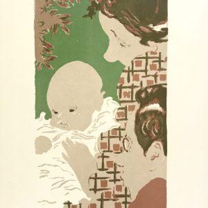 Bonnard Lithograph 23, Scene de famille 1952