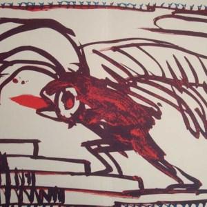 Pierre Alechinsky Lithograph N8-4d, 1988