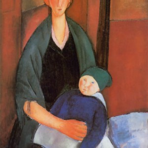 Modigliani seated woman with child, Ltd Edition