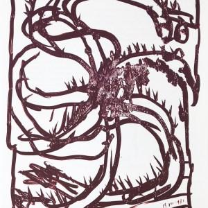 Alechinsky Lithograph, DM4247 Derriere le Miroir